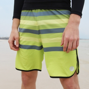 GREEN STRIPE BOARDSHORT